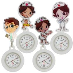 White Angel Male Female men women Nurse Doctor Medical Hospital Badge Reel Watch